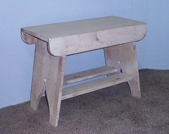 "Handmade Splay Leg Primitive Bench - 24"" Long  - Your Choice of Colors - Great on Your Front Porch!"