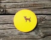 handmade cork coaster small doggon great