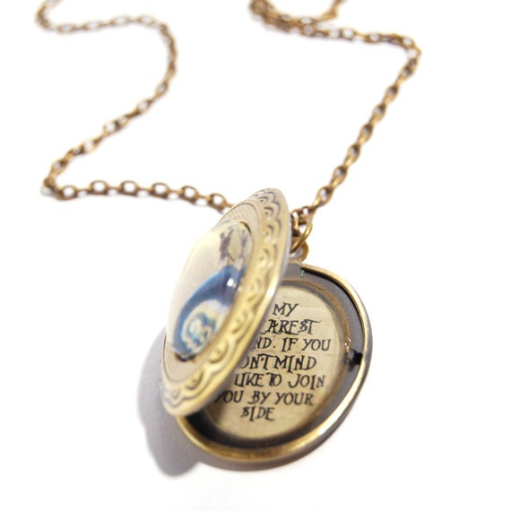 ... Quote Locket Necklace in Bronze Tone, The Nightmare Before Christmas