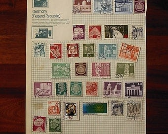 German stamps for scrapbooking, altered art etc. All Different  (35)
