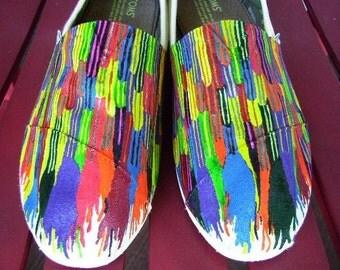 Crayon Ribbon Handpainted TOMS