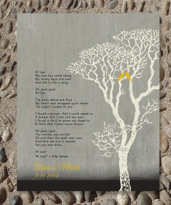 Wedding Present Box Elder Lyrics : Personalized Wedding Gift, Custom First Dance Song Lyrics, Family Tree ...