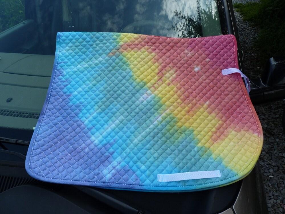 tie dyed english saddle pad