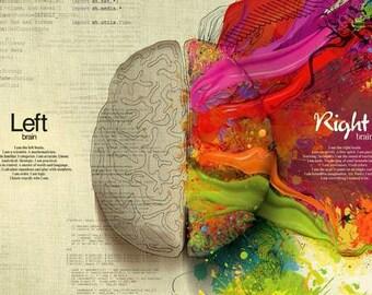 Human Brain Logic V Creativity Print
