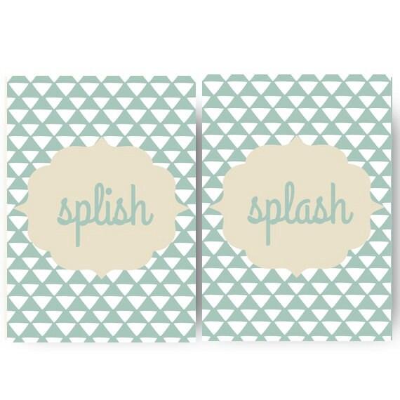 Articoli simili a parete bagno stampe home decor - Stampe per bagno ...
