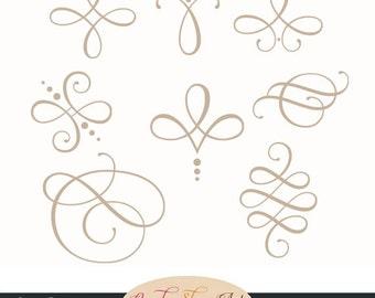 Instant Download Kalligraphie Ornaments Von