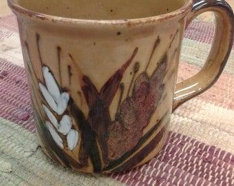 On Sale Yellow Wheat Pottery  Mug