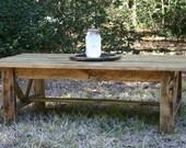 Reclaimed Wood Coffee Table (Cody)