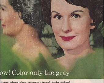 1963 McCall's Magazine Ad for Loving Care Hair Color Lotion by Clairol, Vintage Advertising, Mid Century Magazine Ad, Ephemera Advertising