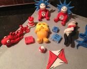Dr. Seuss inspired Fondant Decorations