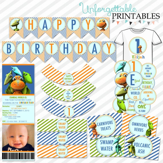 dinosaur train birthday party printable by sealsitwithakiss. Black Bedroom Furniture Sets. Home Design Ideas
