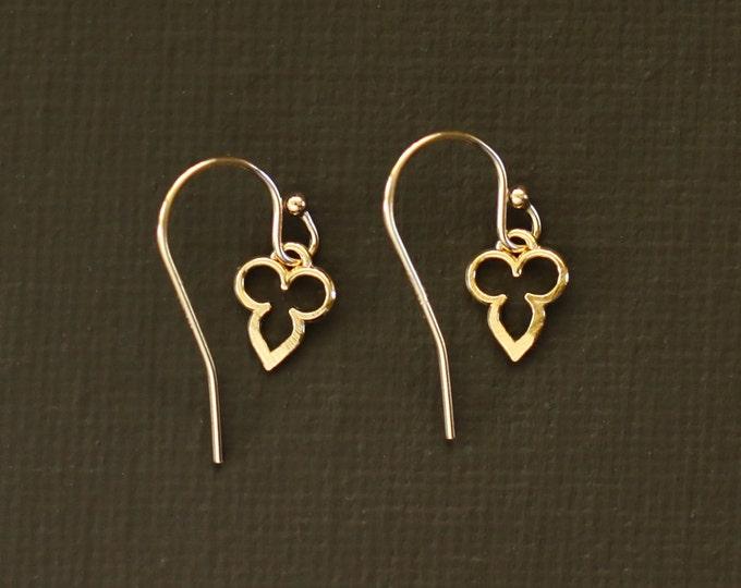Dainty Mehndi Earrings - 14K Gold  Fill