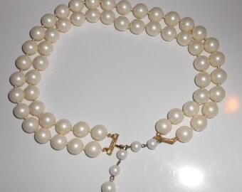 Vintage necklace, Old Hollywood necklace Snowballs Marvella vintage 1950s cocktail necklace