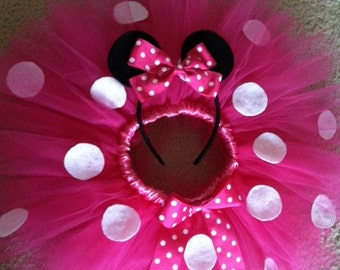 Minnie Mouse Tutu 12-24mths *Limited Time Only !! Ears with purchase*