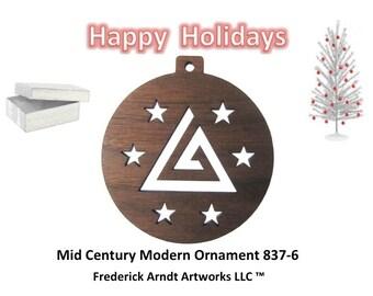 837-6 Mid Century Modern Christmas Ornament