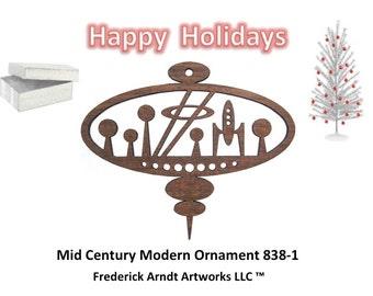 838-1 Mid Century Modern Christmas Ornament