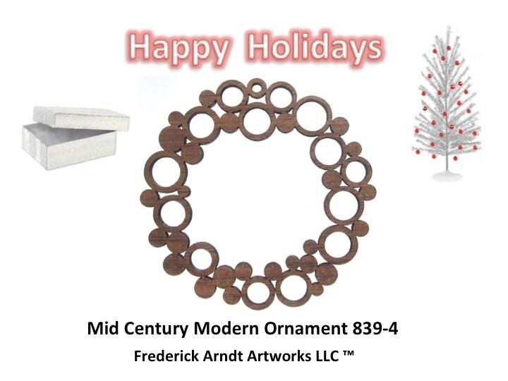839-4 Mid Century Modern Ornament