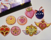 8 Sailor Moon Brooch and Luna P Stickers
