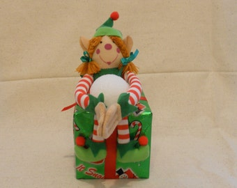 Girl Christmas Elf, Christmas Elf, Christmas Present Elf, Elf Decor, Christmas Decor, Elf