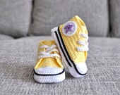 Crochet baby sneakers. Crochet shoes - UgglaLand