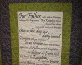 Lord's Prayer, Our Father Scripture Wall Hanging Gift Unique