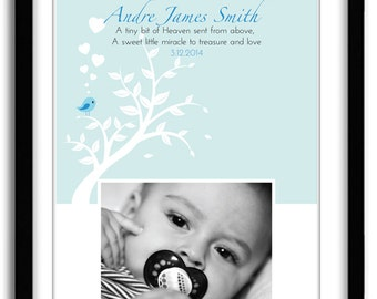Christening Gift Baptism Gift Boy, Personalized Bible Verse Art, Blessing gift for GodChild, Photo Print
