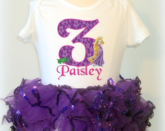 Rapunzel Birthday Tutu Outfit