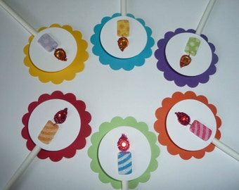Candles Cupcake Toppers