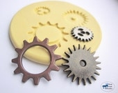 Gear Mold/Mould Trio - Silicone Mold - Steampunk Gears