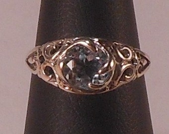 Sterling Silver Ring with Blue Topaz stone