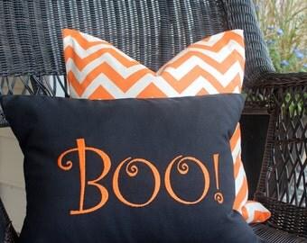Halloween Pillow, Boo pillow, Halloween Decor, Fall Decor, throw pillow, fall pillow, orange decor, holiday decor, Halloween pillow