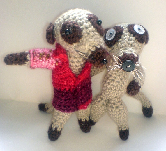 Beginner Crochet Toy Patterns : Crochet Meerkat Toy Pattern Easy Beginners by RustyfishKT ...
