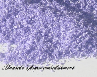 Dollhouse floral embellishment. 1:12 dollhouse miniature flower soft embellishmet. -LAVENDER-
