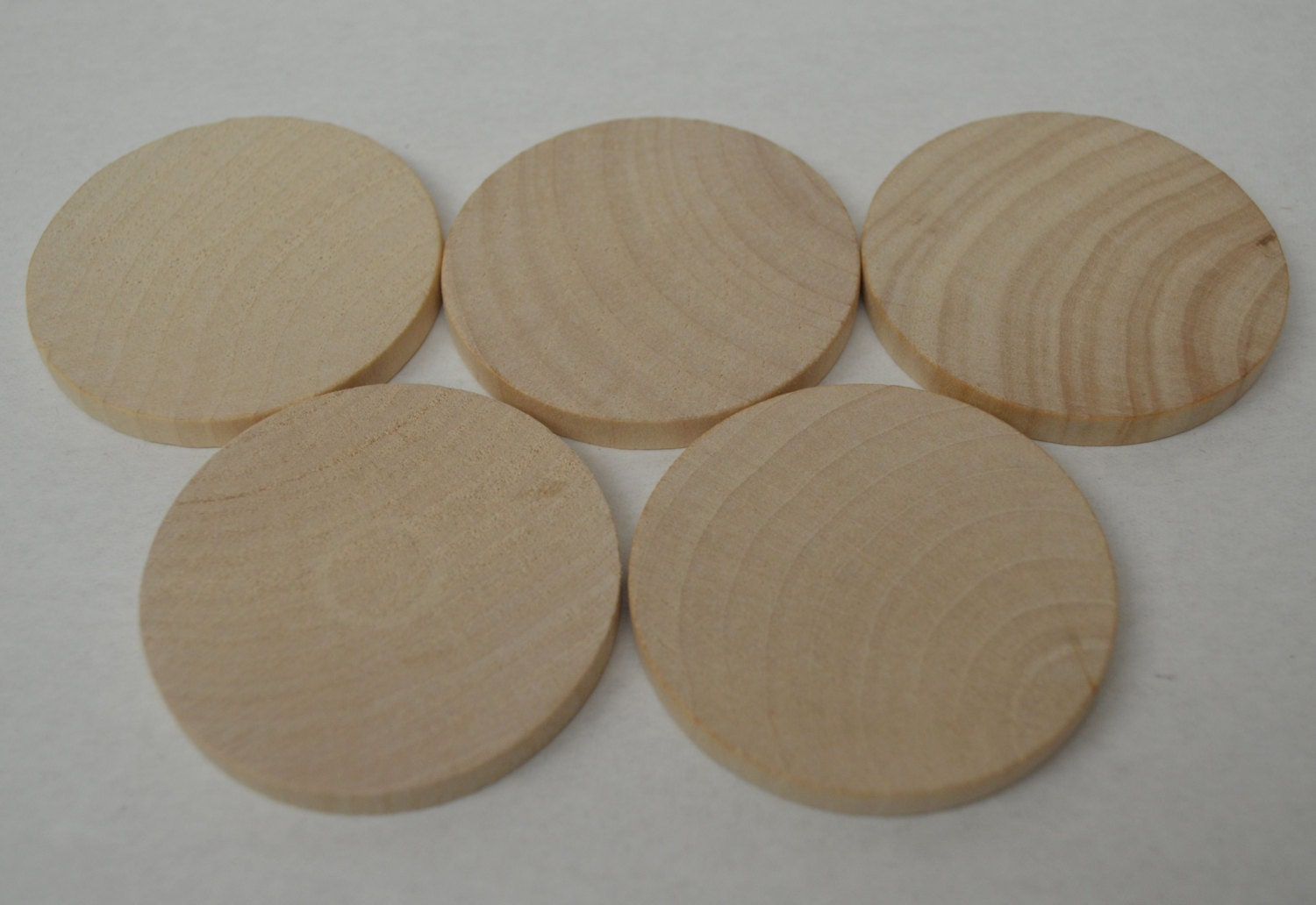 2 3 8 wood discs wood coins set of 5 unfinished for Wood circles for crafts