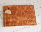 Aztec Tribal Design Cutting Board With Name