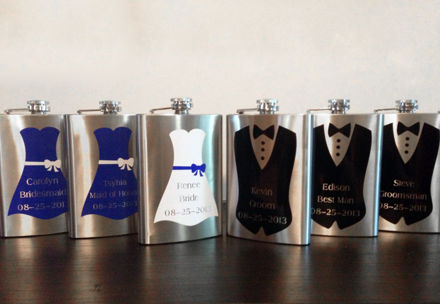Good Wedding Party Gifts For Groomsmen: Bridal Party Personalized Flask Groomsmen Gift Bridesmaid