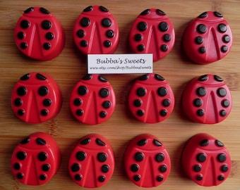LADYBUG Chocolate Covered Oreos (12) - LADYBUG Birthday/Ladybug Favors