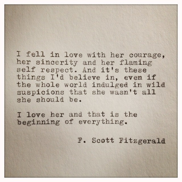 F Scott Fitzgerald Love Quotes F. Scott Fitzgerald Ty...