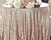 Ready to Ship Champagne Blush Sequin Cloth TableCloth Sequin Table Cloth Sparkly Champagne Table Sequin Linens Gold Sequin Silver Sequin