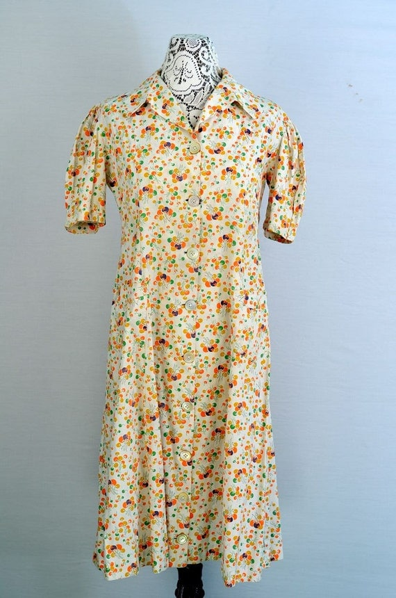 1930s House Dress By 86charlottestreet On Etsy