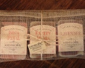 All Natural Soap Trio Gift Set, Plant-based (Vegan), Hemp Packaging