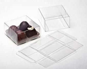 """25 Mini Clear Boxes -  3 1/4"""" x 1 1/8"""" x 3 1/4"""""""