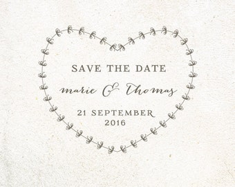 Custom Save the Date Stamps