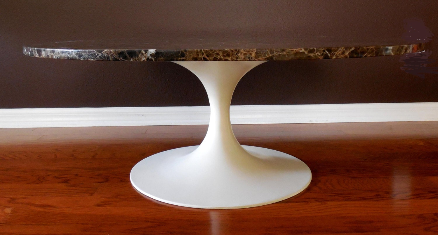 Burke Tulip Base Coffee Table Marble Top Excellent Condition