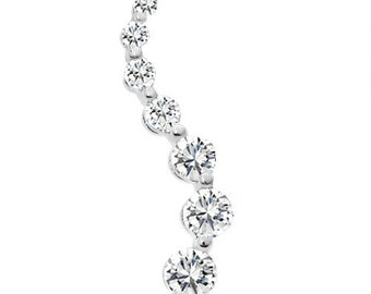 Sterling Silver Delicate Fashion Pendant with Cubic Zirconia
