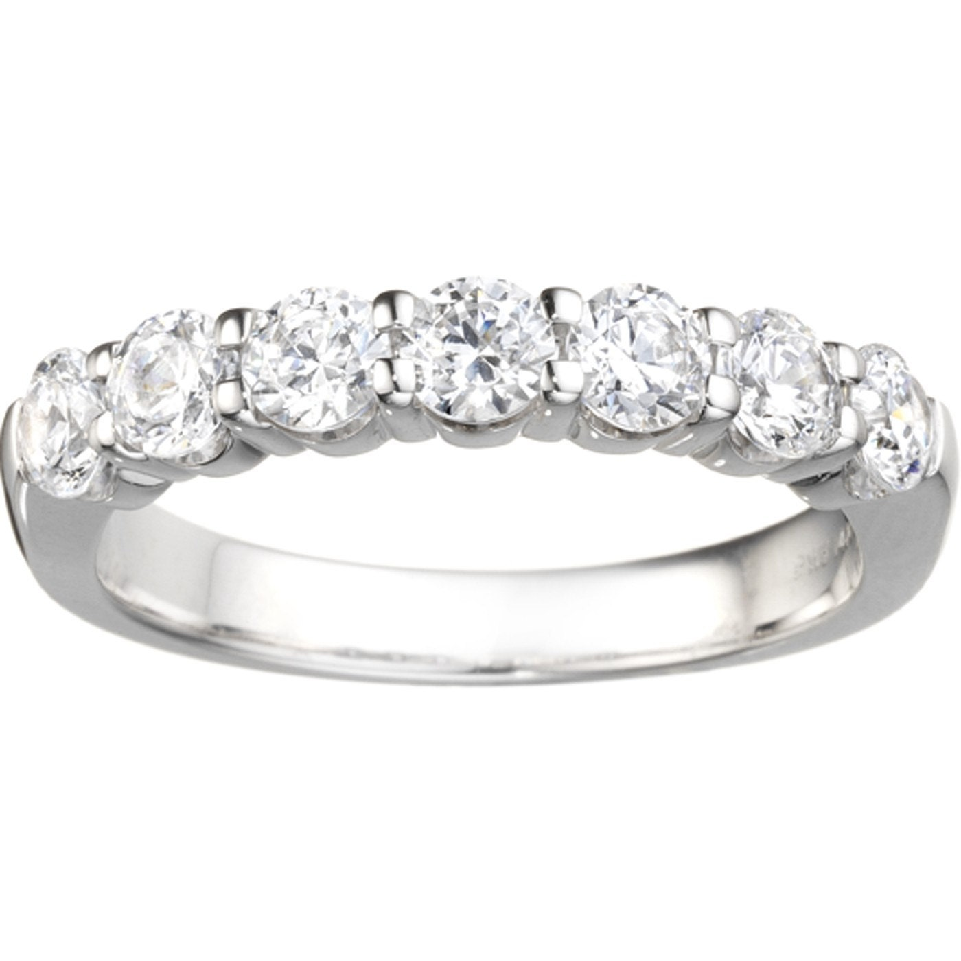 Classic 7 Stone Band 42ct d Prong Cubic Zirconia Set in
