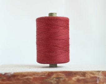 Soviet Vintage Thread Spools - Red - Brown