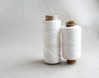 Soviet Vintage Thread Spools - set of 2 - White