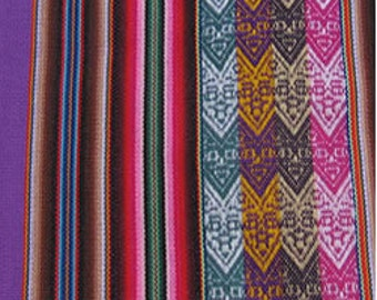 MADE IN PERU 1 Peruvian textile fabric Andean blanket tribal ethnic from South America 110 X 125