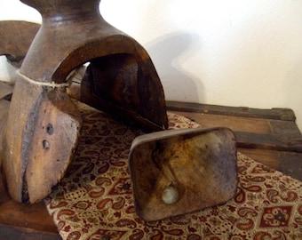 "Vintage Rustic Cow Bell  5"" X 5"" X 3 1/2"" deep.  Deep Ring."